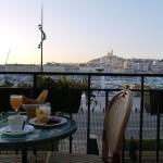 Terrasse de l'hotel Belle-Vue Marseille